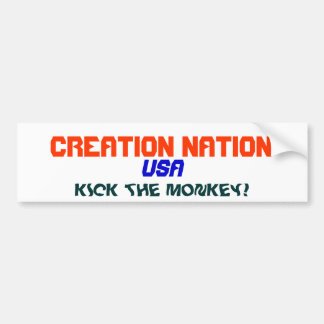 CREATION NATION CAR BUMPER STICKER