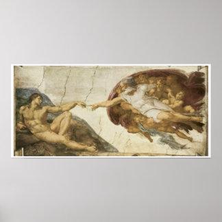 Creation of Adam 1510 Michelangelo Poster