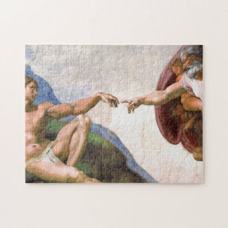 Creation of Adam by Michelangelo Jigsaw Puzzle