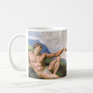 Creation of Adam by Michelangelo Classic White Coffee Mug