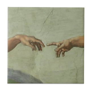 Creation of Adam by Michelangelo Tile