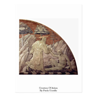 Creation Of Adam By Paolo Uccello Postcard