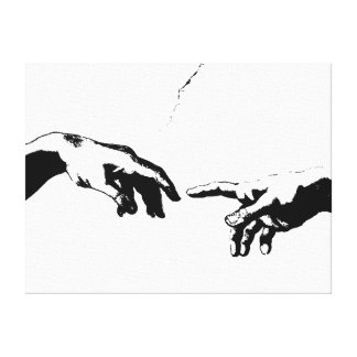 Creation of Adam Stretched Canvas Print