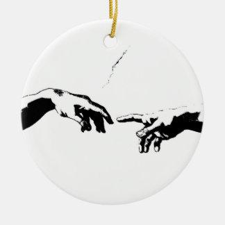 Creation of Adam Ceramic Ornament
