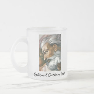 Creation of Adam (detail) Frosted Glass Coffee Mug