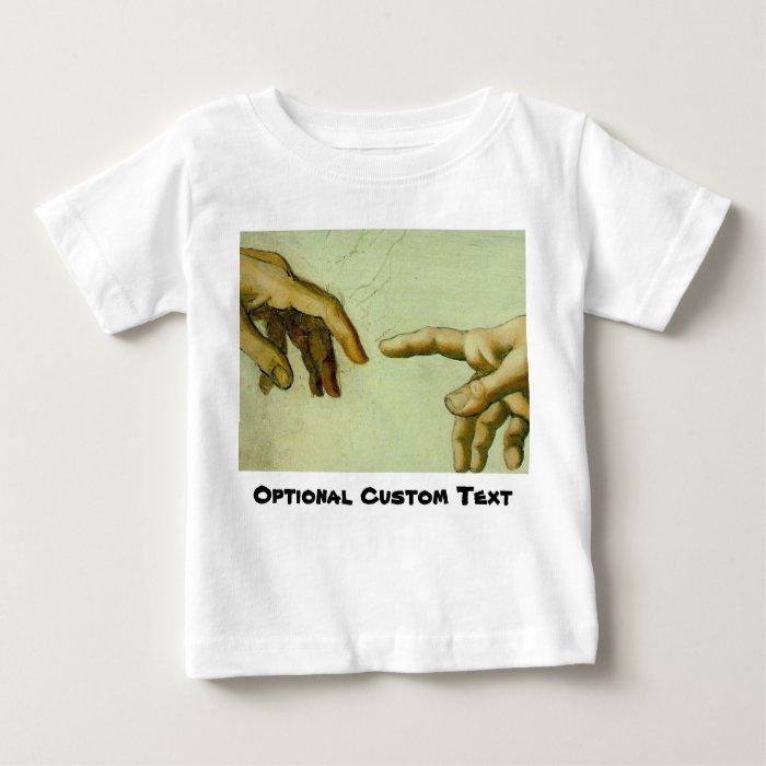 Creation of Adam (detail-hands) Baby T-Shirt