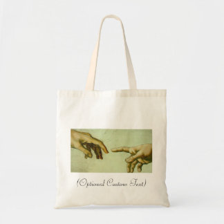 Creation of Adam (detail-hands) Budget Tote Bag