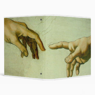 Creation of Adam (detail-hands) Binder