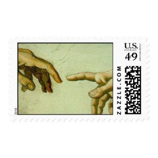 Creation of Adam (detail-hands) Postage