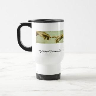 Creation of Adam (detail-hands) Travel Mug