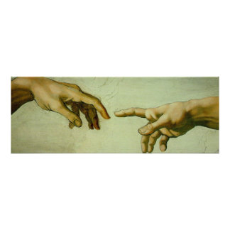 Creation of Adam (hands) Canvas Print