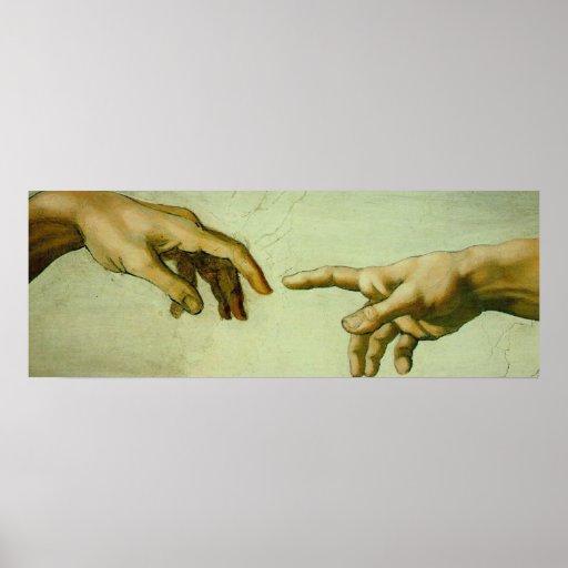 Creation of Adam (hands) Poster