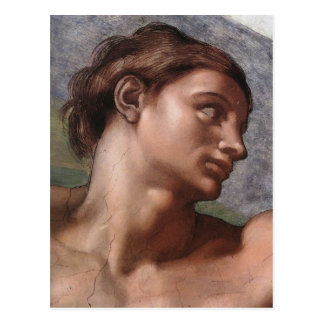 Creation of Adam in detail by Michelangelo Postcard