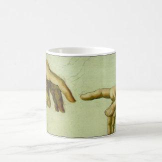 Creation of Adam in detail Classic White Coffee Mug