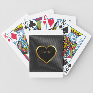 Creation of Adam inside a golden heart Bicycle Playing Cards