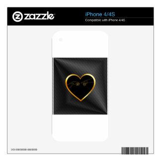 Creation of Adam inside a golden heart iPhone 4S Skin