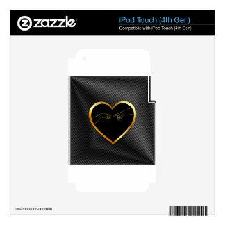 Creation of Adam inside a golden heart iPod Touch 4G Skin