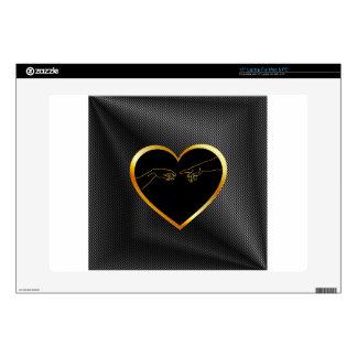 """Creation of Adam inside a golden heart Skin For 15"""" Laptop"""