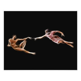Creation of Adam Michelangelo Fractal Painting Personalized Flyer