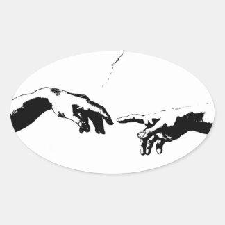 Creation of Adam Oval Sticker