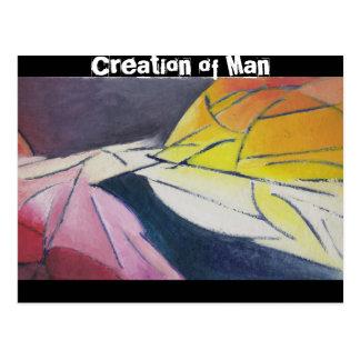 Creation of Adam Postcard