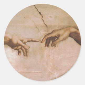 Creation of Adam Round Stickers