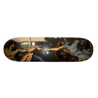 creation of graffiti skateboard deck