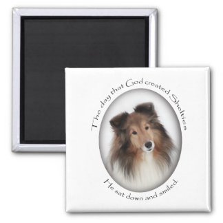 Creation of Shelties 2 Inch Square Magnet