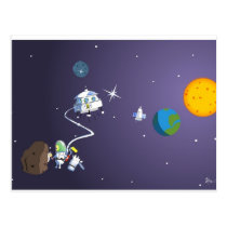 Creation of stars postcard