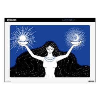 Creation of Sun and Moon laptop skin