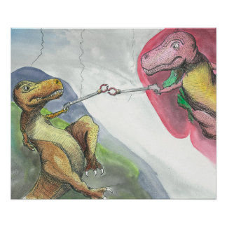 """""""Creation of T-Rex"""" Poster"""