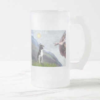 Creation of the Boston Terrier (#3) Frosted Glass Beer Mug