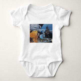 """creation"" original oil painting by Jon Rigby Baby Bodysuit"