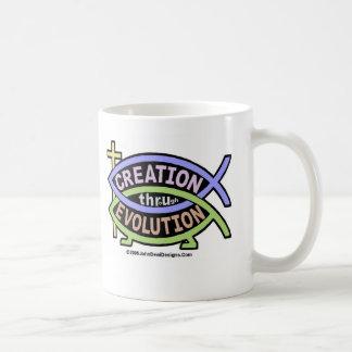 Creation thru Evolution Multi-Color Coffee Mug