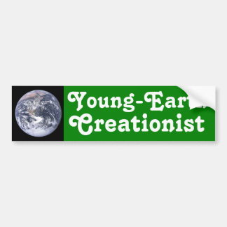 Creationist de la Joven-Tierra Etiqueta De Parachoque