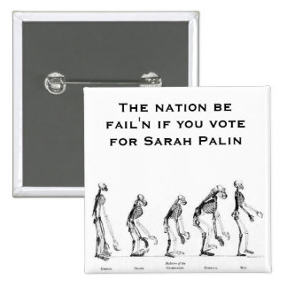 Creationist de Sarah Palin- Pin Cuadrada 5 Cm