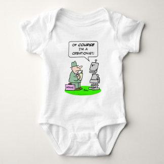 creationist robot course religion polls baby bodysuit