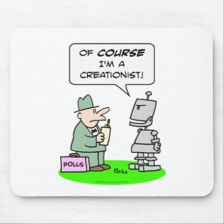 creationist robot course religion polls mouse pad