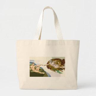 creationoadam.jpg large tote bag
