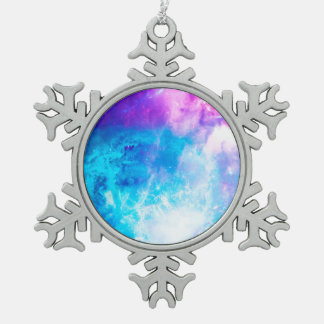 Creation's Heaven Snowflake Pewter Christmas Ornament