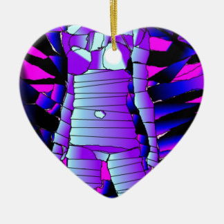 creations of Michel mully Double-Sided Heart Ceramic Christmas Ornament