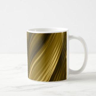 creative-395343 GOLD GOLDEN DIGITAL THREADS SWIRLS Coffee Mug