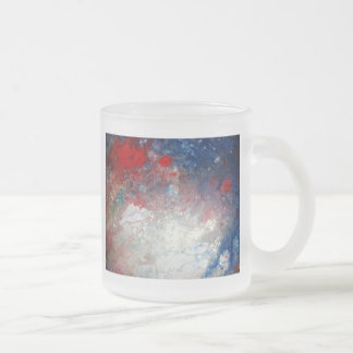 Creative Abstract Art Frosted Glass Coffee Mug