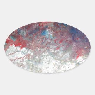 Creative Abstract Art Oval Sticker