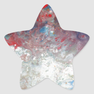 Creative Abstract Art Star Sticker