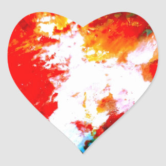 Creative Abstract Artwork Heart Sticker