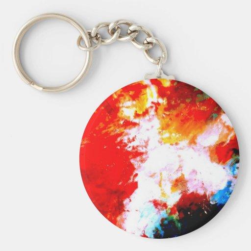 Creative Abstract Artwork Keychain