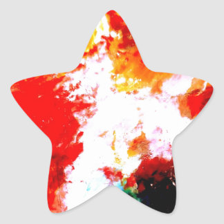 Creative Abstract Artwork Star Sticker