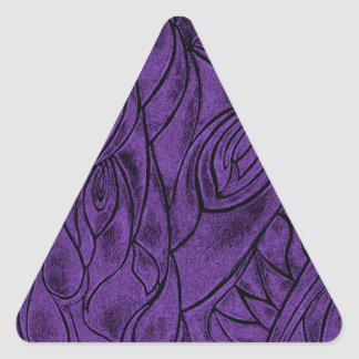 Creative Abstract Design Drawing Purple and Black Triangle Sticker