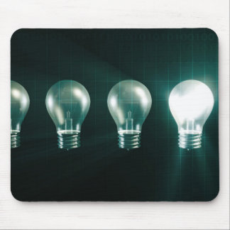 Creative Abstract with Business Concept of Idea Mouse Pad
